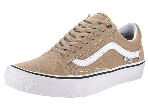 77d750d5dc Vans Men s Old Skool Pro Khaki White Skate Shoe 8.5 Men US  Amazon.ca  Shoes    Handbags