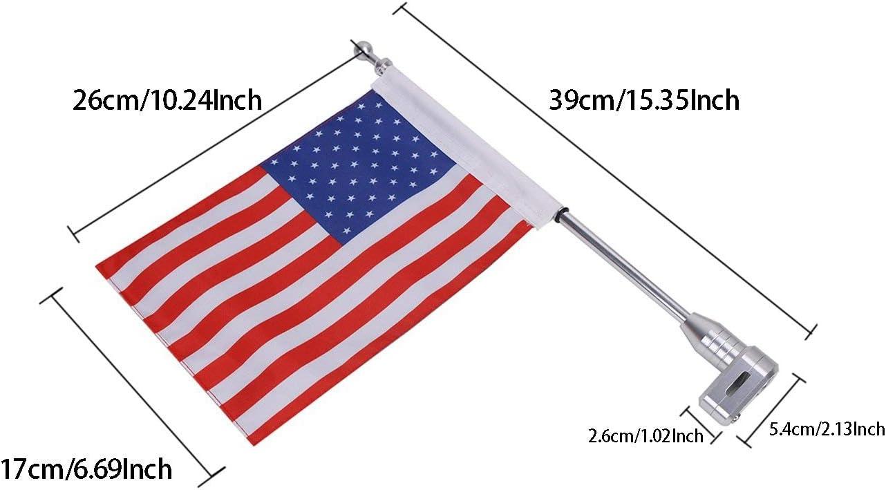 Basage Porte-Bagages pour Drapeau Am/éRicain avec P? Le Vertical pour Goldwing Gl1800 pour Softail Paquet de 2