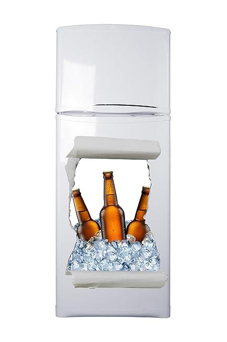 Pegatinas 3D Vinilo para Frigorífico Hueco Cerveza Varias Medidas ...