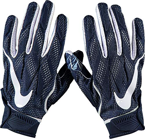 - West Virginia Mountaineers Team-Issued Navy Superbad 4 Gloves from the Football Program - Size L - Fanatics Authentic Certified