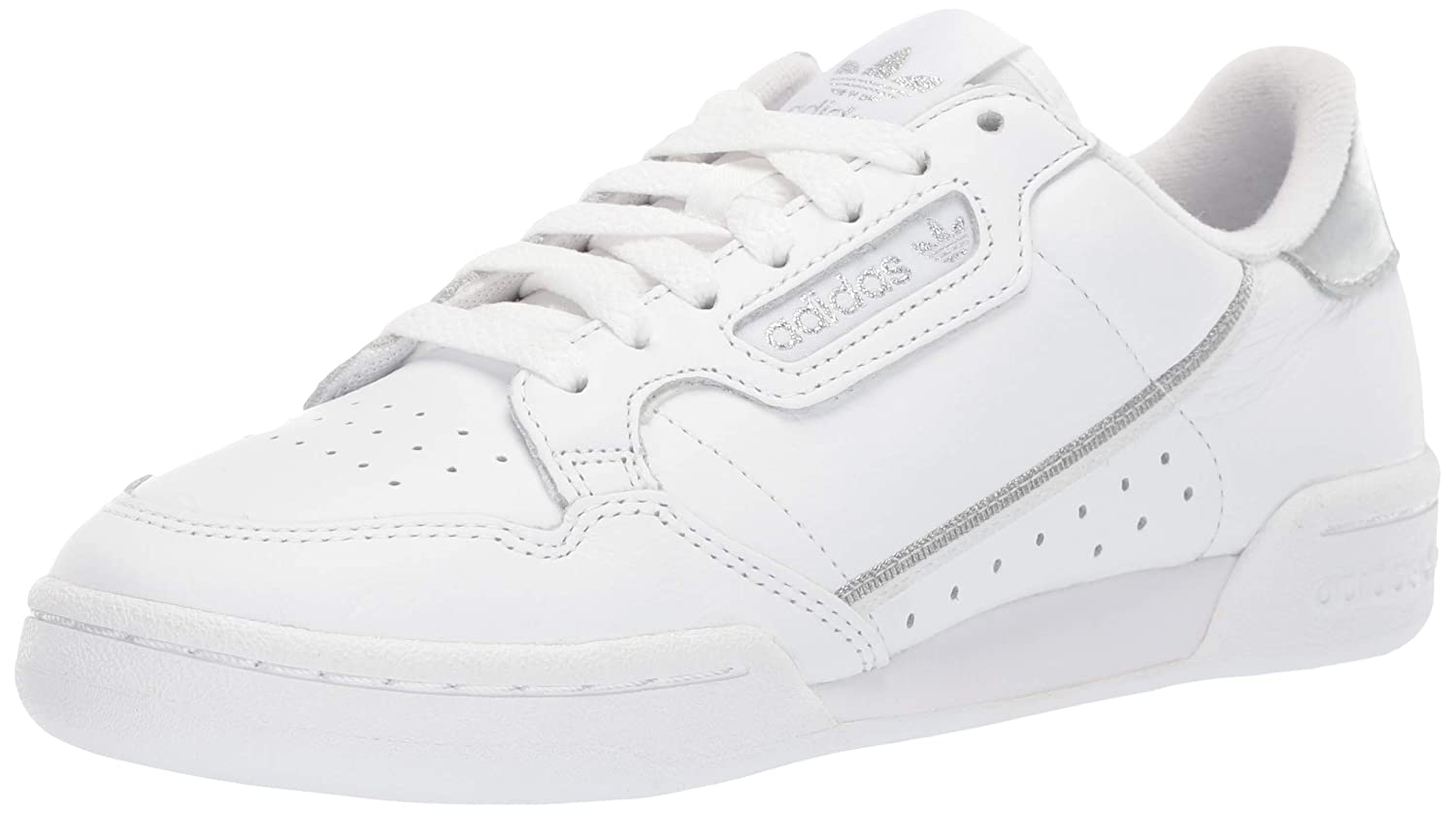 adidas Originals Women's Continental 80 Sneaker, WhiteSilver, 7.5 Medium US