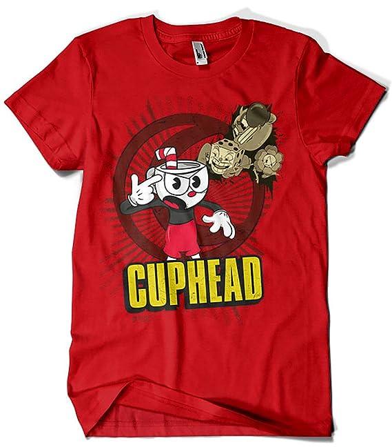 Camisetas La Colmena 1663-Parodia, Cuphead (Gualda Trazos): Amazon.es: Ropa y accesorios