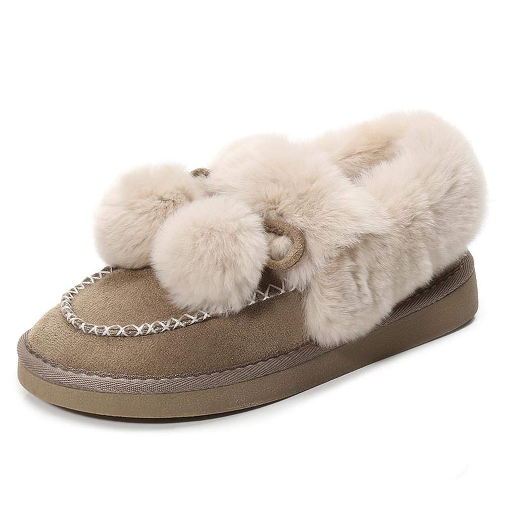 Frauen Herbst Und Winter Mode Damenschuhe Flache Schuhe Und Plüschschuhe