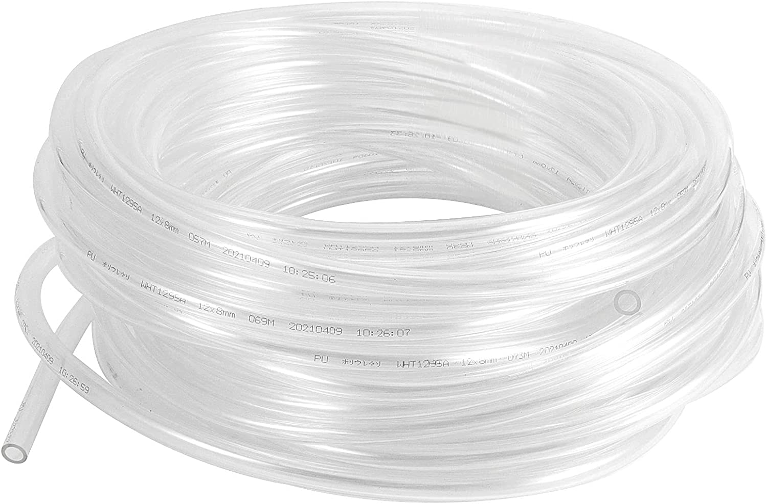 HAKZEON 115 Feet 1/2 Inch ID 5/8 Inch OD Clear Vinyl Tubing, Food Grade PVC Hose Universal Flexible Plastic Tubing for Medical, Industry, Agriculture, Fishery, Wine Making, Household