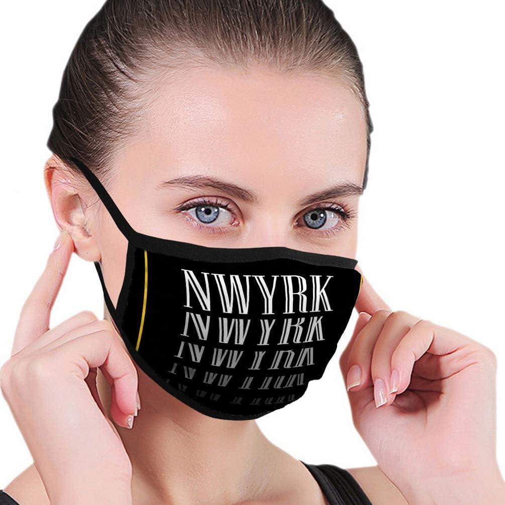 N/A Máscara de Boca al Aire Libre de Moda, impresión de Lema Unisex de la Ciudad de Nueva York, gráfico Impreso, promoción de Lema de la Ciudad de Nueva York, Venta