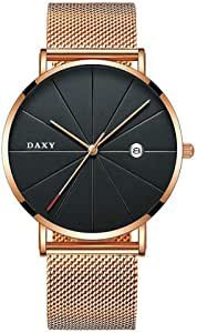 Gentleman's Luxury Clock Generous Slim Steel Minimalist Male Quartz Watch