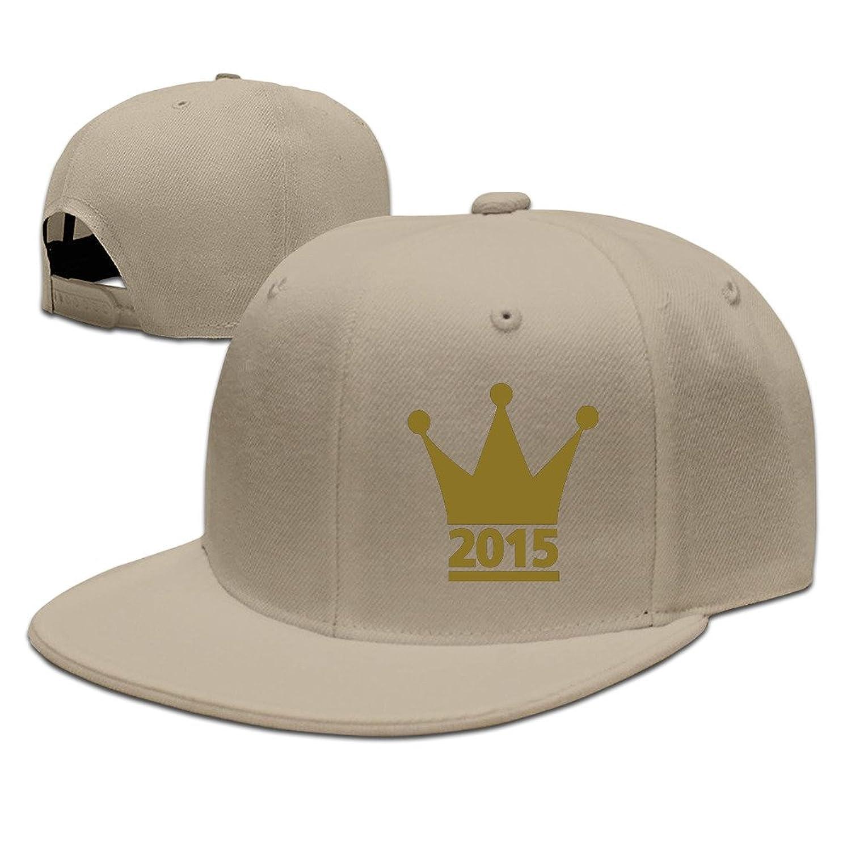 Custom Unisex Adjustable Cool 2015 Crown Snapback Flat Baseball Cap One Size
