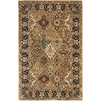Safavieh Persian Legend Collection PL510A Handmade Traditional Light Green and Black Wool Area Rug (5 x 8)