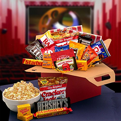 Gift Basket Drop Shipping 819412-RB10 Blockbuster Night Movie Care Package with 10.00 Redbox Gift Card (Microwave Popcorn Gift Baskets)