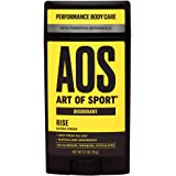 Art of Sport Men's Deodorant - Rise Scent - Aluminum Free Deodorant for Men with Natural Botanicals Matcha and Arrowroot - Hi