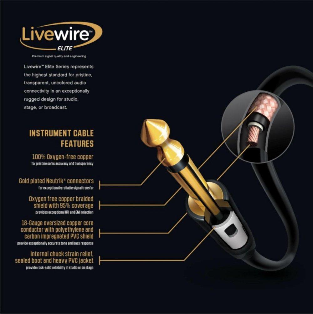 Amazon.com: Livewire Elite Instrument Cable 10 ft.: Musical Instruments