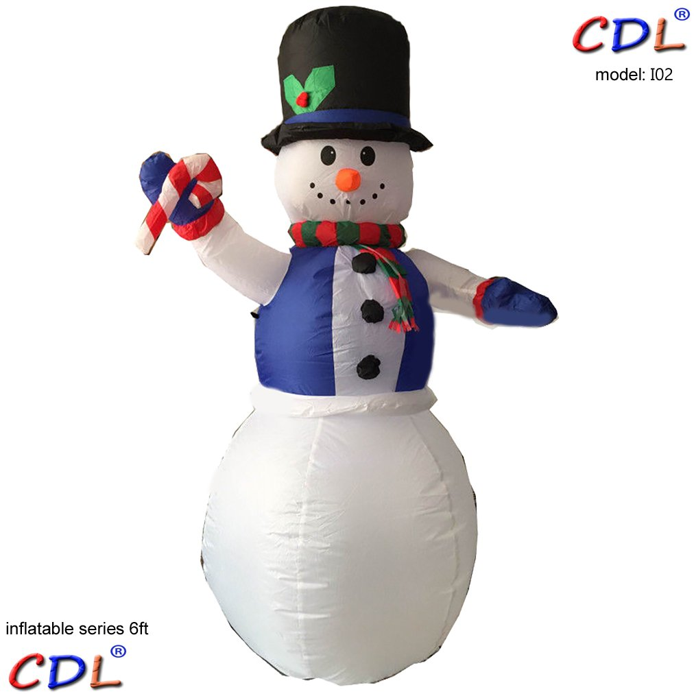 ECOM-CDL CDL 6ft Giant High Inflatable Snowman Air Blown Yard Decoration in Various design I02