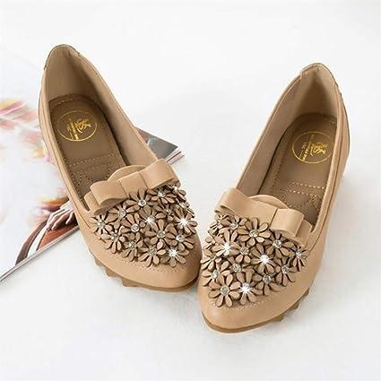 XL_nsxiezi Chaussures à Lacets pour Femmes:
