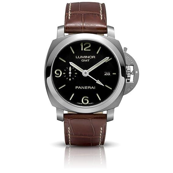 PANERAI Luminor 1950 3 Days Gmt Automatic Acciaio - Reloj (Reloj de pulsera, Masculino