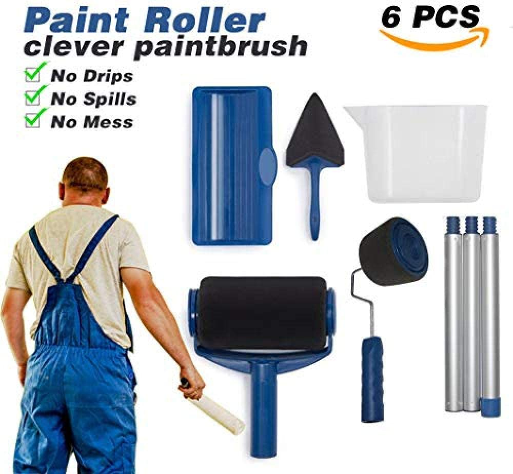 Kit de pintura de pared 14 en 1 para el hogar ProWall equipo de pintura Renovator Paint Runner Pro Professional Roller juego de rodillos de pintura para pared para el hogar o la oficina