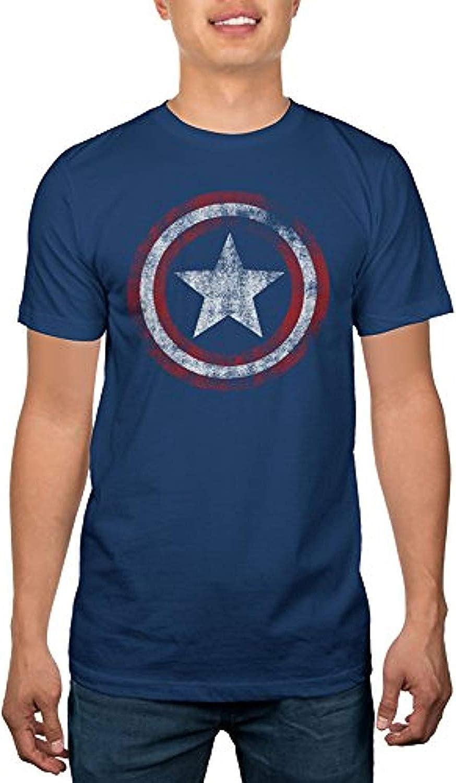 Marvel Captain America Faded Shield Logo Adult Sized T-Shirt