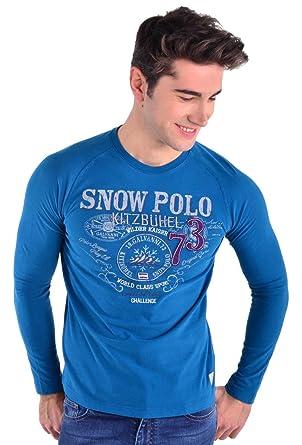 GALVANNI Itz Camiseta de Manga Larga, Azul (Moroccan Blue), 3XL ...
