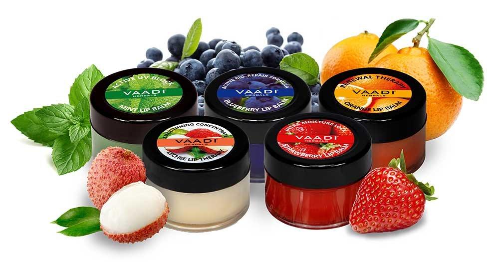 Vaadi Herbals Assorted Lip Balms, 10g (Pack of 5) product image