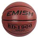 EMISH Basketball Outdoor/Indoor Game Ball Rubber Street Basketball Official Size 7 (29.5') Basketballs With Pump, Needles, Basketball Net