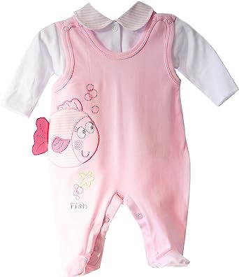 Strampler /& Body Anzug SET 56 62 68 74 Rosa Herzchen Baby Kombination