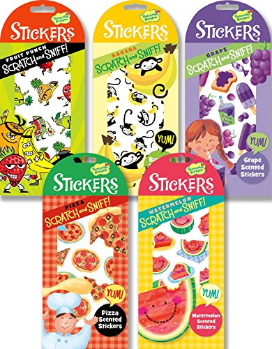 Valentine Stickers Party Favors (Peaceable Kingdom Fun and Fruity Scratch and Sniff Sticker Party)