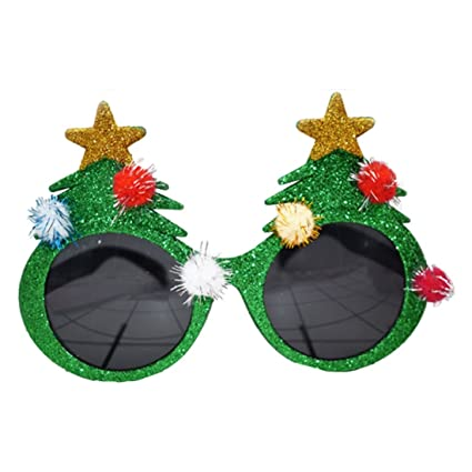 Festive Novelty Glasses Traditional Christmas Xmas Accessory Party Sunglasses