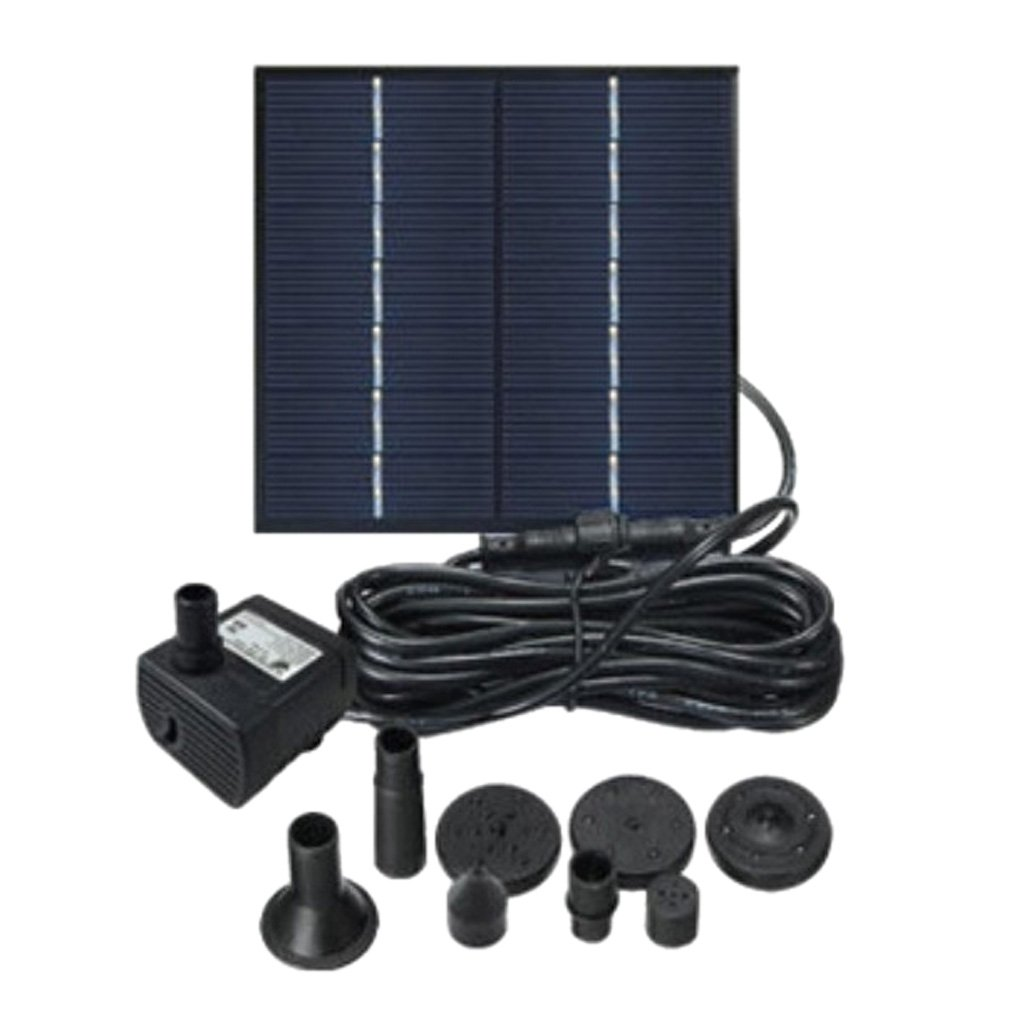 B Blesiya Outdoor Free Standing Solar Power Fountain Pump Solar Panel Kits Water Pump, for Home Garden Yard Pool Pond Decoration - Square