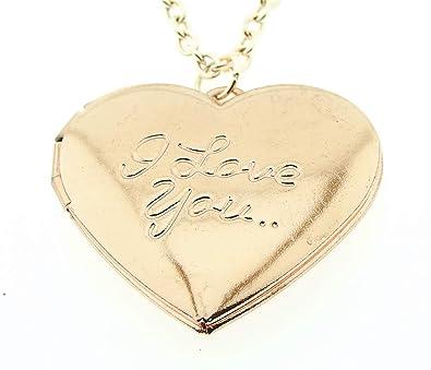 Lovelegis - Collar de Mujer - Corazón - Corazón - Abre - Te ...
