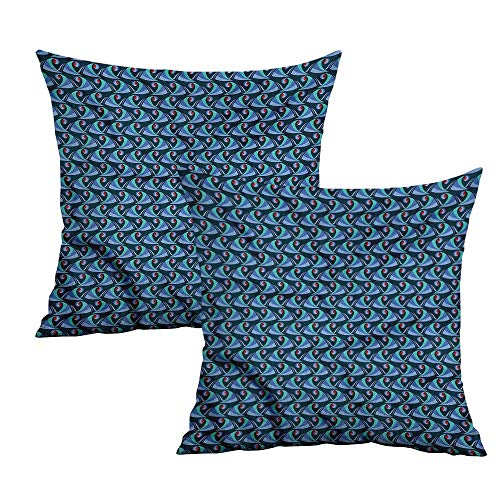 uare Pillowcase Covers with Zipper Abstract Sea Waves Surfing Square Zippered Pillowcase Cushion Cases Pillowcases for Sofa Bedroom Car W 24