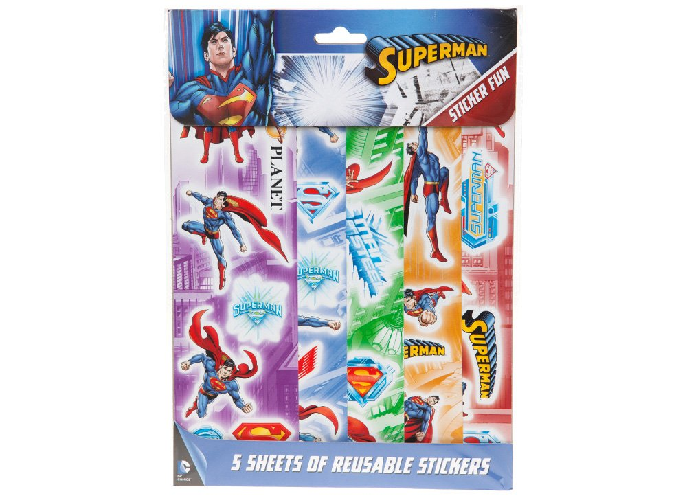 Joy Toy 301040 Superman 5 Hojas Reutilizable Pegatinas Joy Toy AG