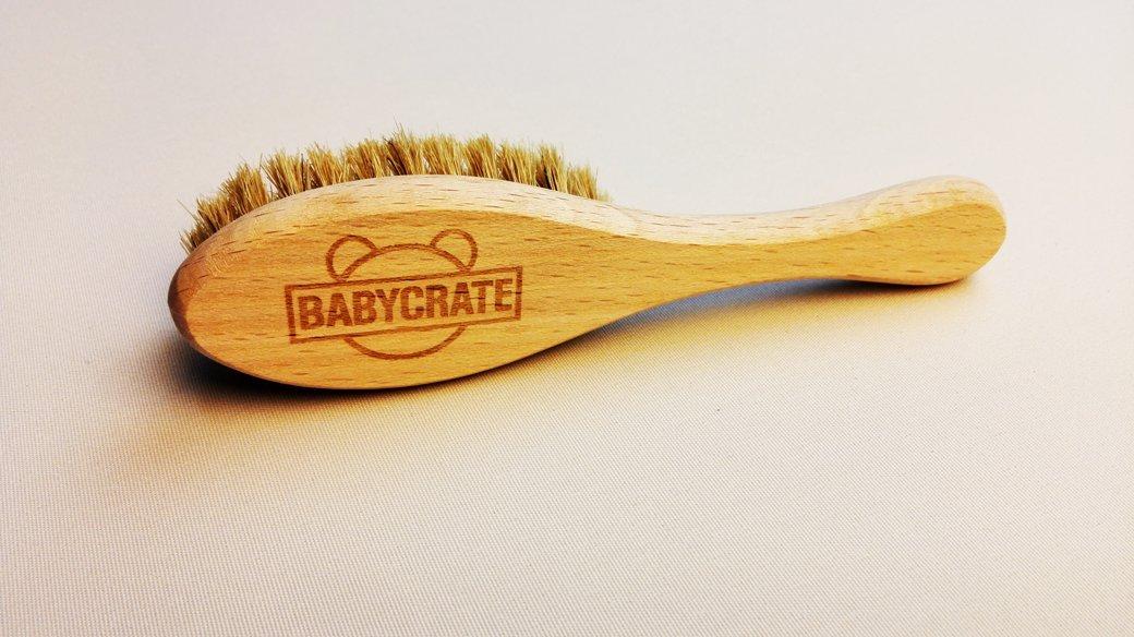 BabyCrate Baby - Superweiche Bürste aus Naturhaar für Babies Pferd Buche unbehandelt FSC Zertifiziert
