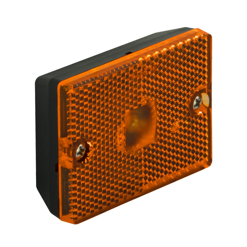 Best Rated In Heavy Duty Vehicle Marker Clearance Lights Helpful Freightliner Xc Chis Auxilary Fuse Relay Box Blazer B423a Amber Rectangular Side With Reflex Pack Of 1 Product Image