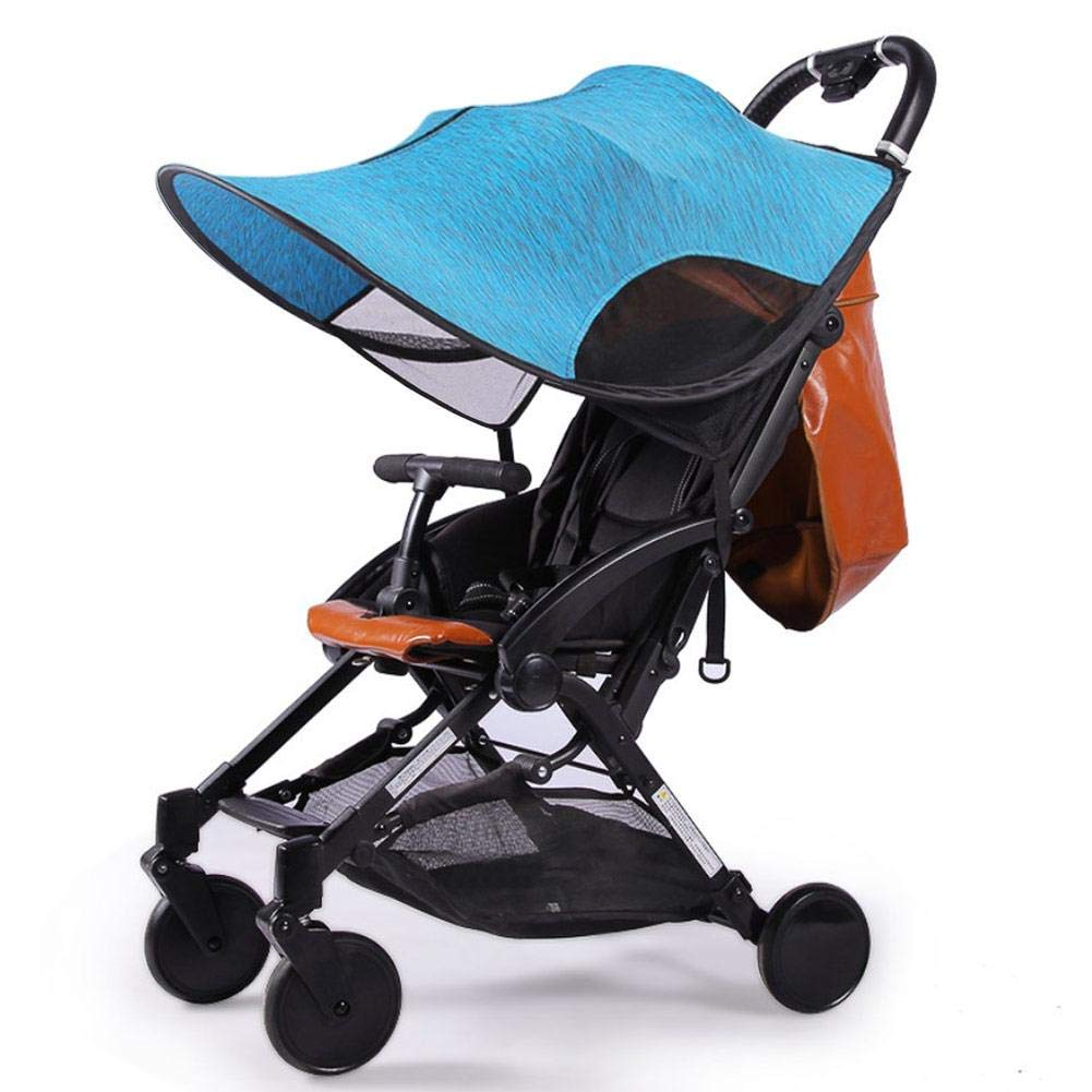 ZLMI Sunshade for Baby Stroller Universal pram pushchairs Buggy Sun Shade Parasol Sunscreen Cover Thickened Steel Wire Strip,Blue