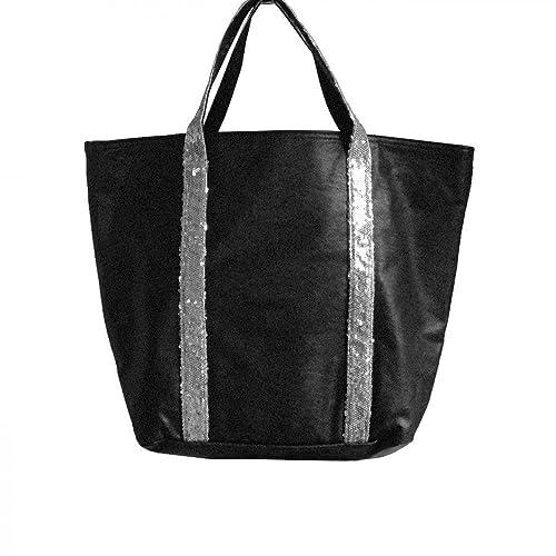 66ade1ebc4 Shopping-et-Mode - Sac à main noir style cabas en simili-cuir avec ...
