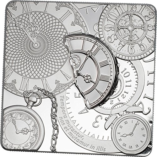 Shaped Coin Silver (2017 CK Modern Commemorative PowerCoin TIME CAPSULE Square Shaped Silver Coin 5$ Cook Islands 2017 Proof)