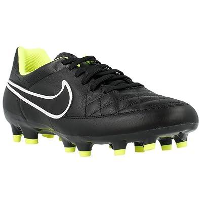 Nike TIEMPO GENIO LEATHER FG Black/Volt//Black US sz. 6.5 Mens