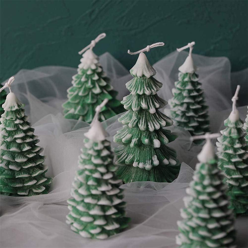 Backform f/ür selbstgemachte DIY-Weihnachts-Kuchen Kerzenform 3D-Weihnachtsbaumform S-10,7 x 7,2 cm Seife Silikonform Dekoration Fondant