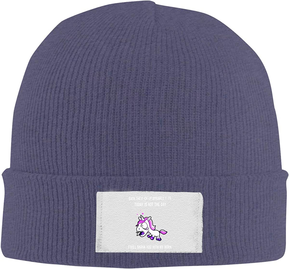 Mens Knit Beanies Hats Back The Fuck Up Sprinkle Tits Today is Not The Day