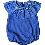 Coolbabe 0-5 Ans Bébé Enfant Fille Body Bleu Combishort Tenue Été  Barboteuse Nouveau- a52dd9e2fc1