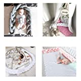 Biback Baby Crib Bumpers Braids Kid's Room