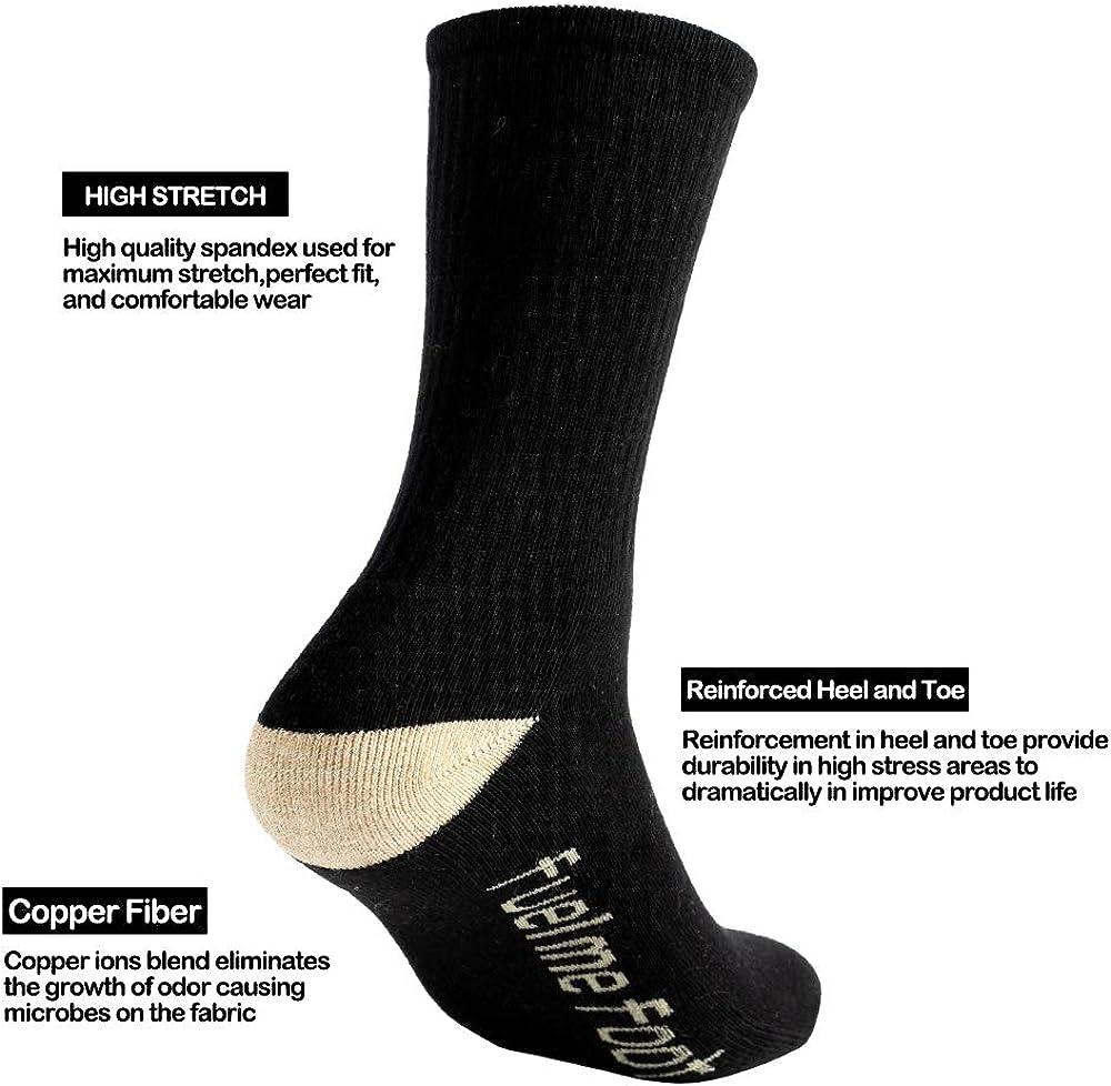 Mens Cushion Breathable Cotton Crew Socks Outdoor Sports Athletic Basketball Socks