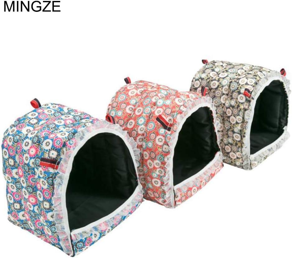 MINGZE Hamster Hammock, Nice Hut, Casa de Cama Colgante para Ratones Hedgehog Hamster Gerbil Chinchilla Conejillo de Indias, M/L/XL (M)