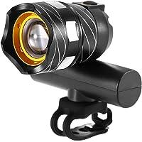 Tomshin capaz de luz frontal de bicicleta USB recarregável lâmpada de bicicleta LED luz frontal MTB farol de bicicleta…