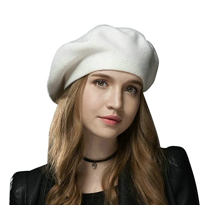 FLY HAWK Gorro Beanie Mujer Invierno Sombrero Lana para Mujer - Gorros Francesa  Lana Vintage aded4147c3c