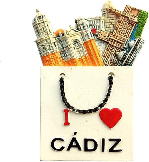 Weekino Cádiz España Imán de Nevera 3D Resina de la Ciudad de Viaje Recuerdo Colección de Regalo Fuerte Etiqueta Engomada refrigerador: Amazon.es: Hogar