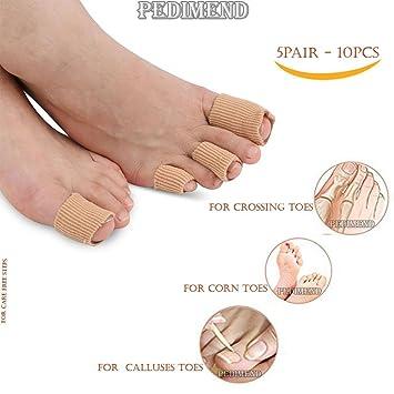 Women's Socks & Hosiery New Tube Bandage Gel Cap Moisturising Finger Toe Protector Sore Corn Pain Relief