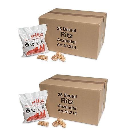 325 Anz/ünder Ritz Bio Anz/ünder Bio Kamin und Grillanz/ünder f/ür Holz /& Kohle