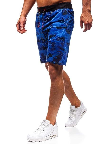 BOLF Hombre Pantalón Corto Pantalón de Chándal Impresión Pantalón ...