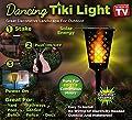 Tekno Solar Powered Waterproof Path Dancing Flames Tiki Light Torch