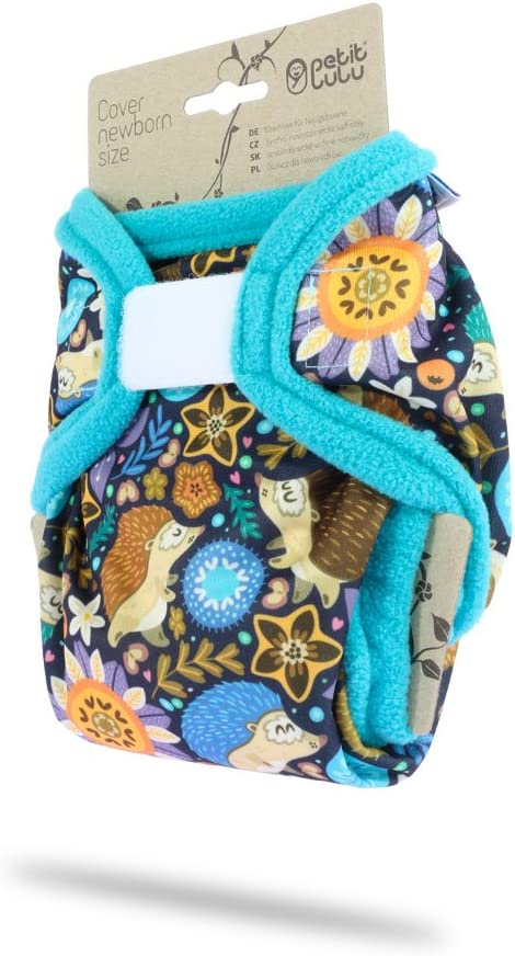 4.4-13.2 lbs Petit Lulu Cloth Nappy Cover | Hook /& Loop Foxes Newborn Washable Diaper Wrap Made in Europe Reusable Cloth Nappies